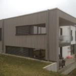 Fassaden Verkleidung Holzrahmen grau
